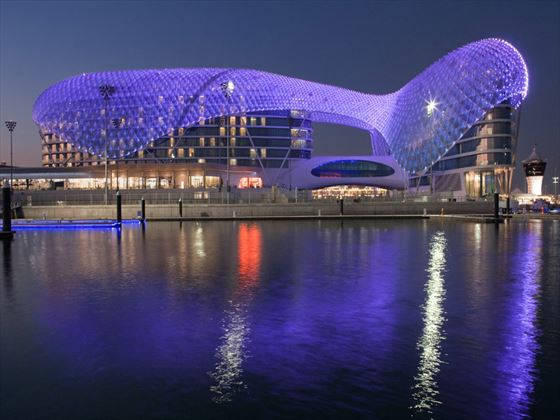 Exterior view of Viceroy Abu Dhabi at night