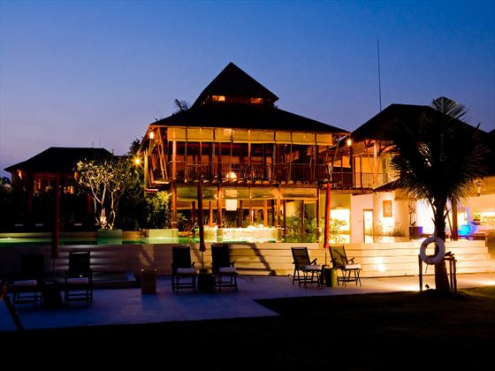 Exterior view of YaiYa Boutique Resort at night