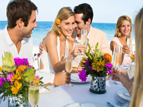 Beauitful, colourful weddings at Finest Playa Mujeres