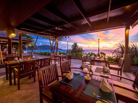 Fishermans Wharf Restaurant at Sunset, Katathani Phuket Beach Resort