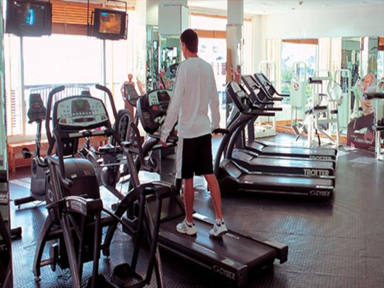 Fitness room at Dubai Marine Beach Resort and Spa