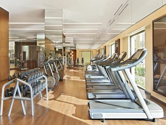 Fitness room at Fairmont The Palm