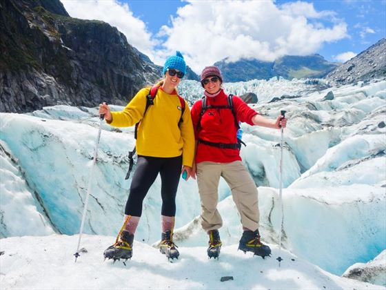 Hike the glaciers, surrounded by breath-taking scenery