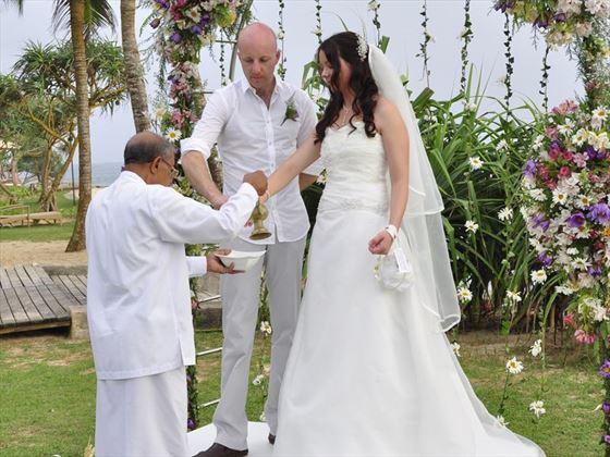 Traditional Sri Lankan wedding ceremony