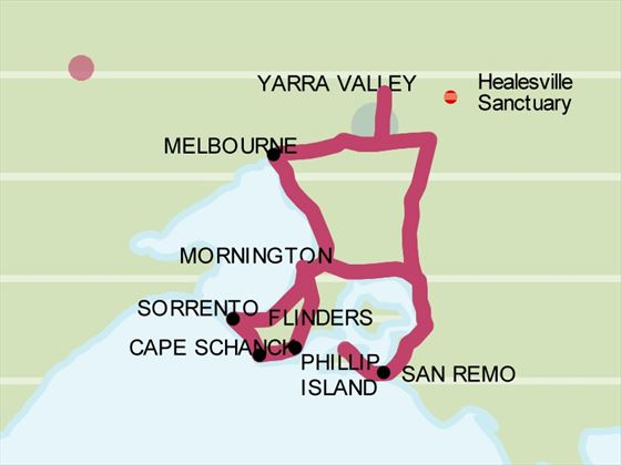 Discover Victoria map