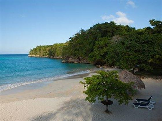 The stunning beach in front of the villa