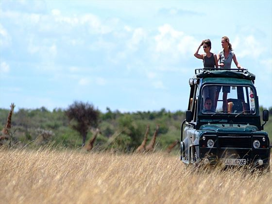 Game drive in Ol Kinyei