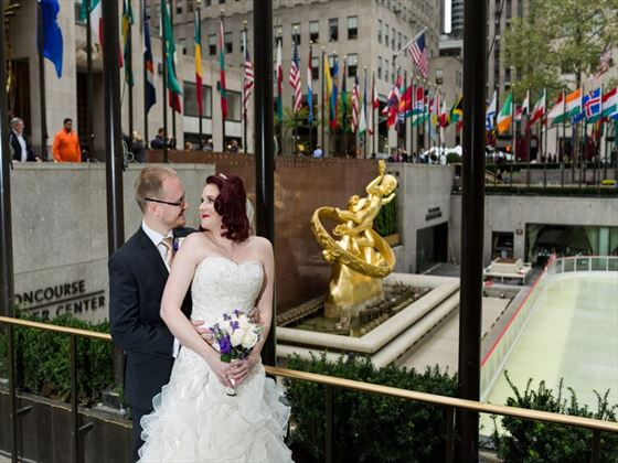 Bride & Groom at Rockefeller Center