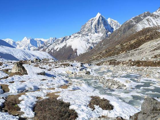 Glacial scenery in Nepal
