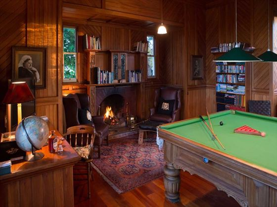Greenhill Lodge billiard room