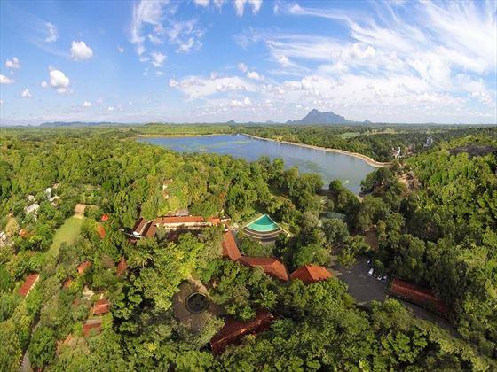 Habarana Village by Cinnamon aerial view