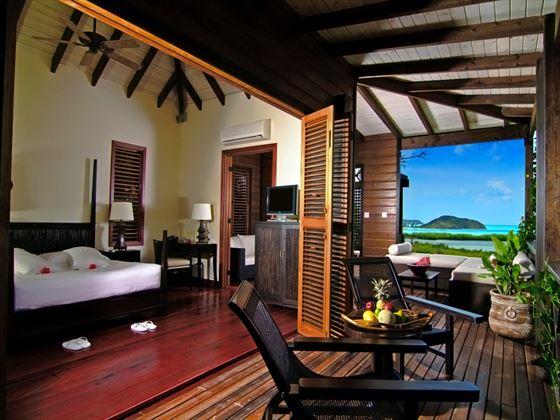Hermitage Bay Hotel Cottage bedroom