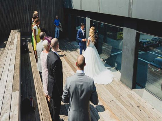 Wedding ceremony at the High Line