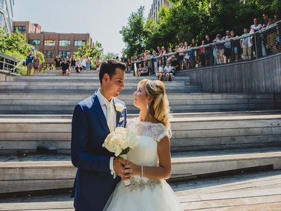 Bride & Groom at the High Line