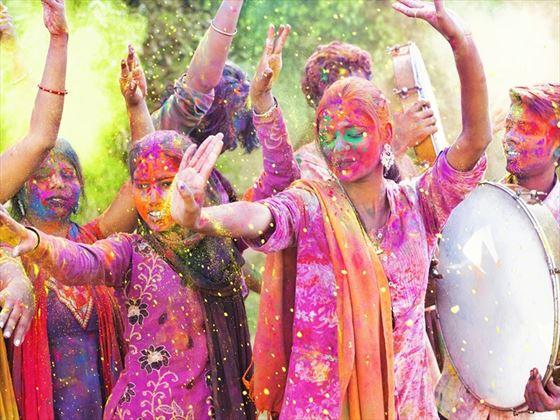 Holi festival celebrations in Jaipur