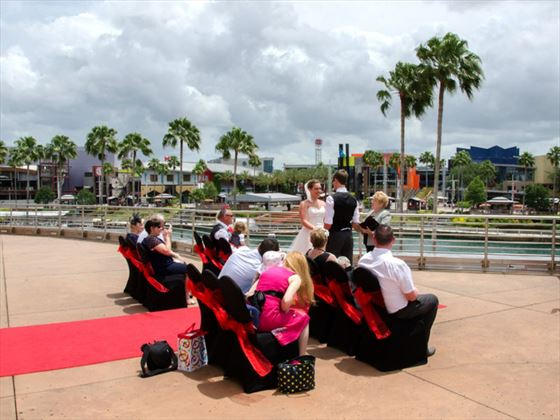 The terrace overlooking Universal Orlando and City Walk