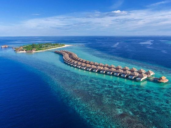 Hurawalhi Island Resort aerial view