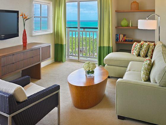 Hyatt Regency Aruba Resort & Casino Suite living area