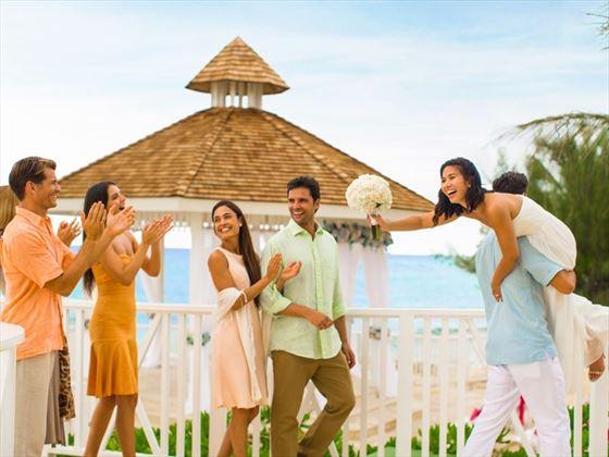 Family & friends attending wedding at Hyatt Zilara Rose Hall
