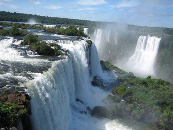 Aerial view of Iguassu Falls