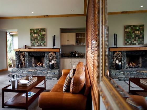 In-suite lounge at Treetops Lodge & Estate