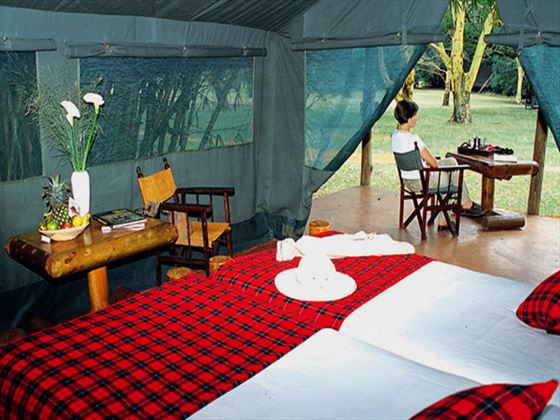 In-tent facilities at Siana Springs Intrepids