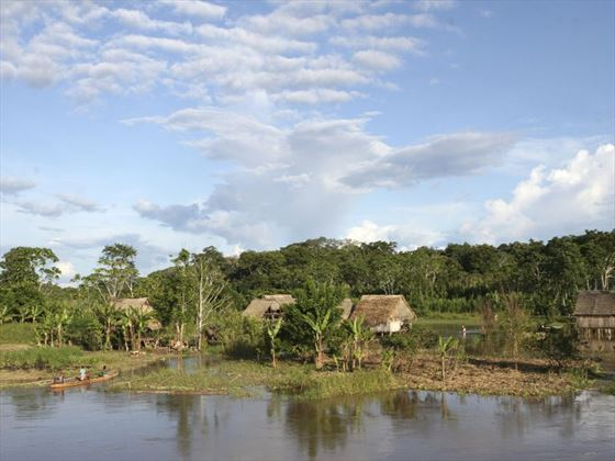 Indigenous Amazon village