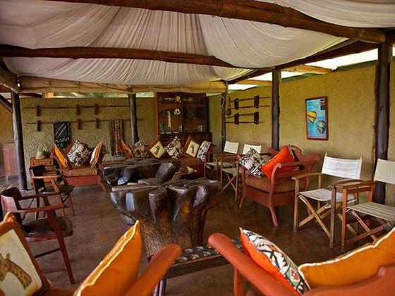 Indoor lounge area at Mara Explorer