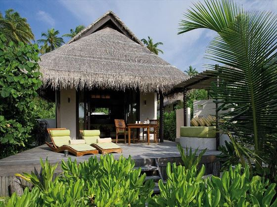 Island Villa terrace at Coco Bodu Hithi