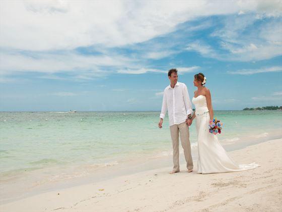Jamaican beach style wedding