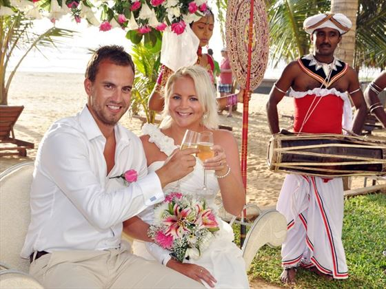 Stunning weddings at Jetwing Beach