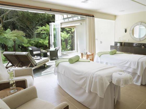 Kauri Cliffs spa treatment room