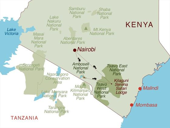 Kenya Discovery 4x4 Safari Map