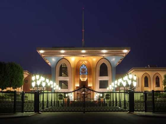 Kings Palace at night