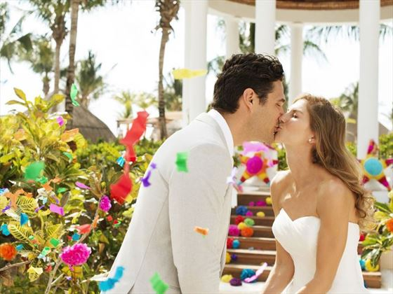 Cementing love at Excellence Riviera Cancun