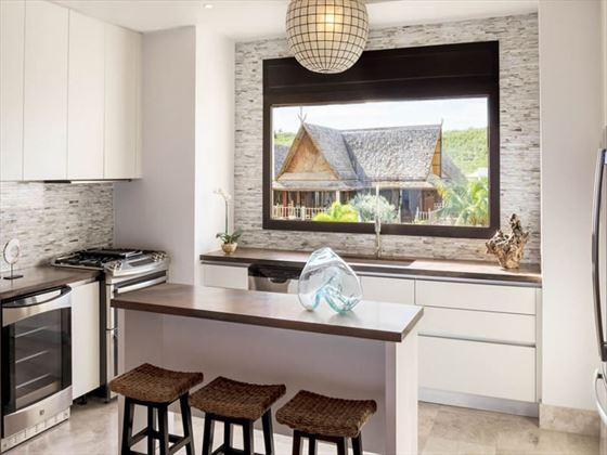 Kitchen, Zemi Beach Suite