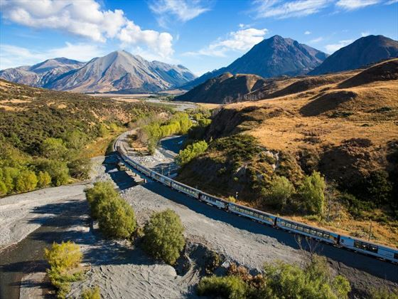 The TranzAlpine train journey