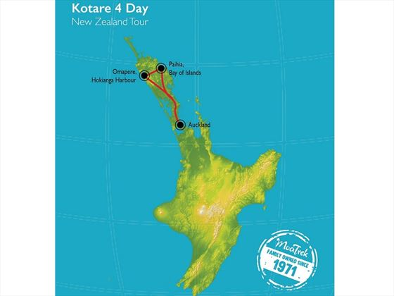 Bay of Islands Kotare map