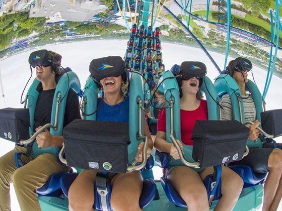 Kraken Unleashed Virtual Reality Rollercoaster