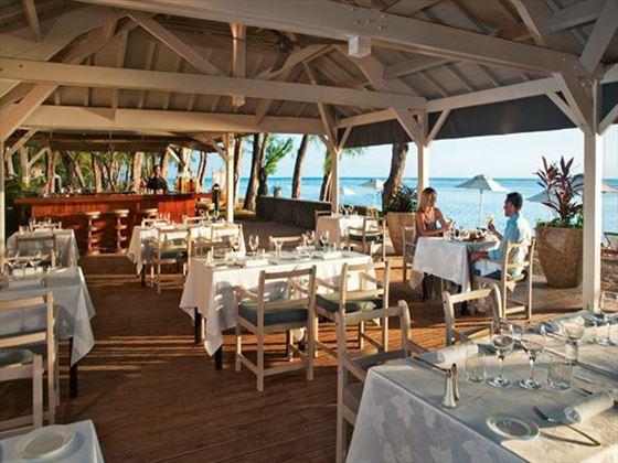 La Plage restaurant at LUX* St Gilles