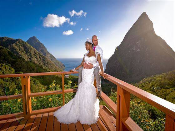 The Caribbean's finest and most dramatic wedding venue