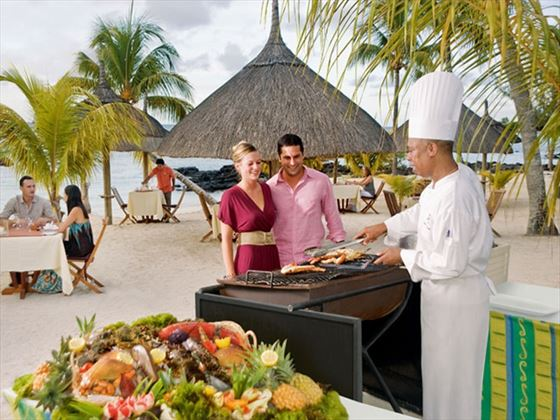 Le Terrasse restaurant at Merville Beach - Grand Baie