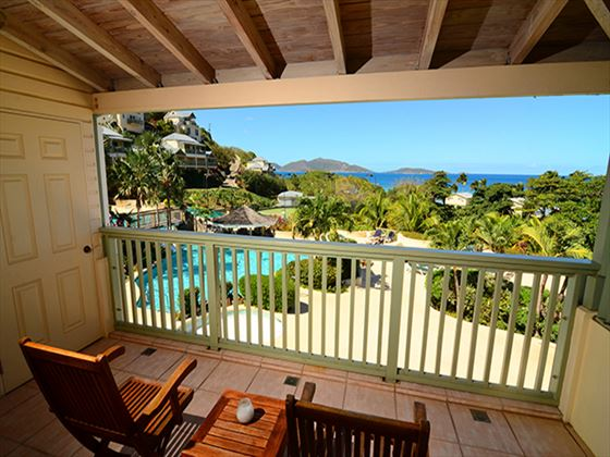 Long Bay Beach Resort and Villas Poolside Ocean View Deluxe balcony