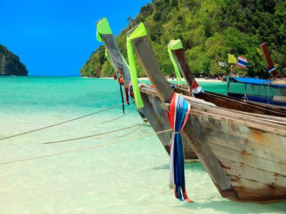 Longtail boats near Tup Island