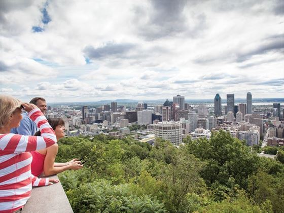 Looking down on Mount Royal Park, Montreal