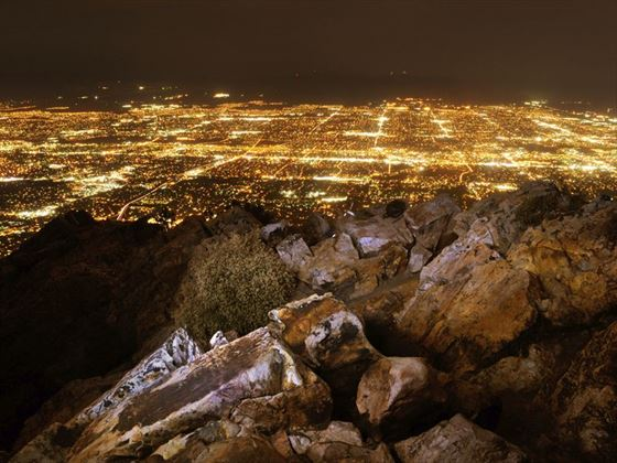 Looking down on Salt Lake City from the Wasatch Mountains