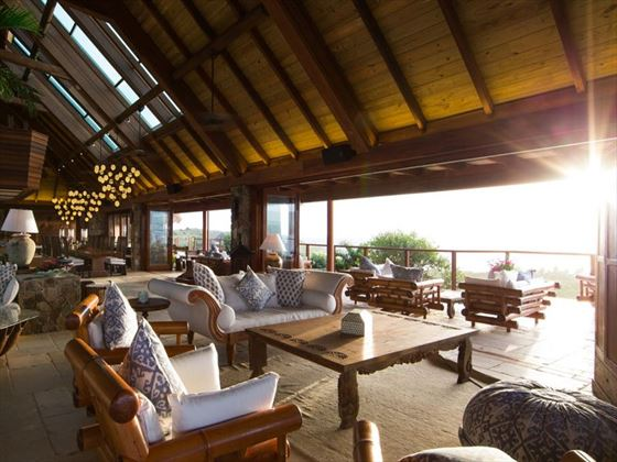 Lounge area at Necker Island