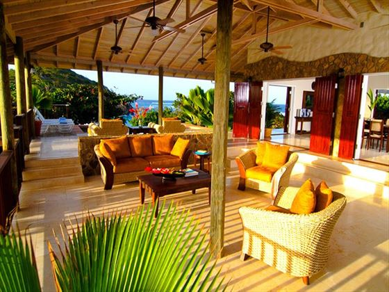 Lounge area at Palm Island