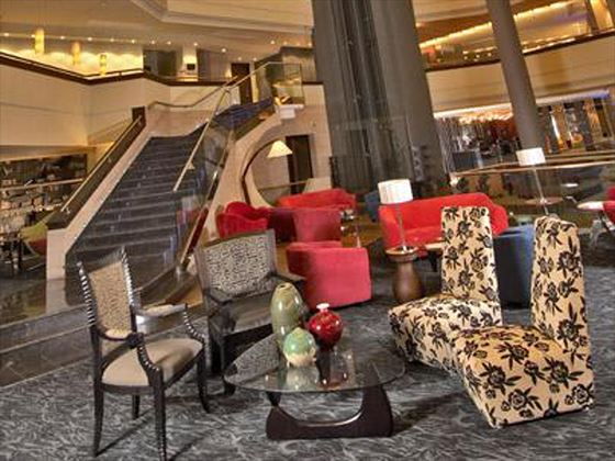 Lounge lobby at Tribe Village Market Hotel