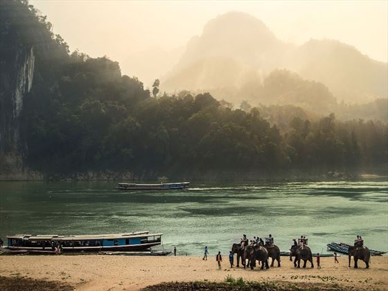 Beach at Luang Prabang